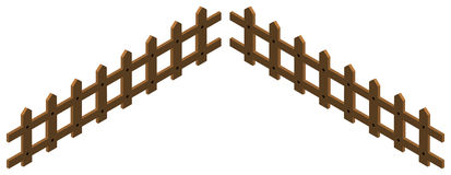 3D design for wooden fence. Illustration Royalty Free Stock Photo