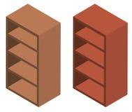 3D design for wooden shelves Royalty Free Stock Image