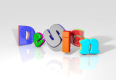 3D Design word Royalty Free Stock Images