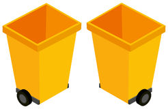 3D design for yellow trashcans Stock Image