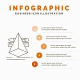 3d designen, formgivare, skissar, den hjälpmedelInfographics mallen för Website och presentationen Linje gr? symbol med orange in stock illustrationer
