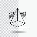 3d designen, formgivare, skissar, hjälpmedel fodrar symbolen på genomskinlig bakgrund Svart symbolsvektorillustration vektor illustrationer