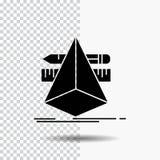 3d designen, formgivare, skissar, hjälpmedelskårasymbolen på genomskinlig bakgrund Svart symbol stock illustrationer