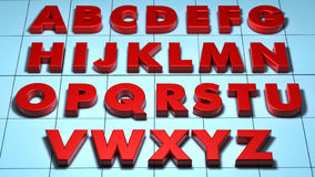 3D alphabet Royalty Free Stock Photos