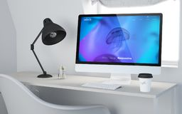 3d desktop workspace online wyczulony Obrazy Stock