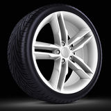 3d detailed car wheel with rim Stock Photo