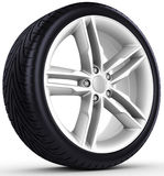 3d detailed car wheel with rim Stock Images