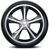 3d detailed car wheel with rim Royalty Free Stock Image
