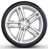 3d detailed car wheel with rim Stock Image