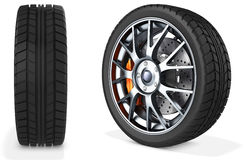 3d detailed car wheel Royalty Free Stock Photography