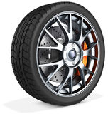 3d detailed car wheel Royalty Free Stock Images