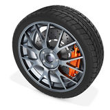 3d detailed car wheel Stock Images