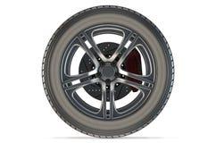 3d detailed car wheel Stock Photo