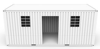 3d  detailed container house Royalty Free Stock Image
