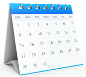 3d detailed desk calendar. On white background Royalty Free Stock Photography