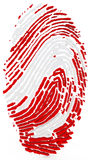 3d detailed human thumb print. On white background Royalty Free Stock Photo