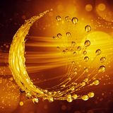 3D detailed illustration of a drop of water gold color. royalty free stock photos