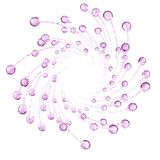3D detailed illustration of a drop of water pink color. White background Royalty Free Stock Image