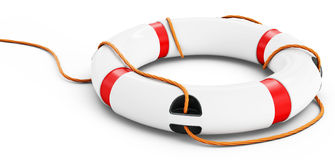 3d detailed lifebuoy Royalty Free Stock Photography