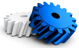 3d detailed metallic gears. On white background Stock Photos