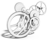 3d detailed metallic gears Royalty Free Stock Photography