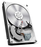 3d detailed open hard drive disk Royalty Free Stock Photo