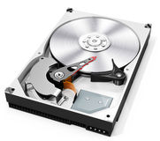3d detailed open hard drive disk Royalty Free Stock Image