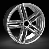 3d detailed wheel rim. On black background Stock Images