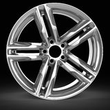 3d detailed wheel rim. On black background Royalty Free Stock Image