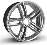3d detailed wheel rim. On white background Stock Images