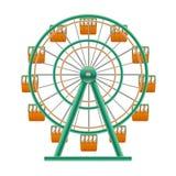 3d detalhado realístico Ferris Wheel Attraction Vetor ilustração stock
