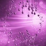 3D detalhou a ilustração de uma gota da cor do rosa da água Fotos de Stock Royalty Free