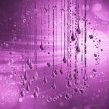 3D detalló el ejemplo de un descenso del color del rosa del agua Stock de ilustración