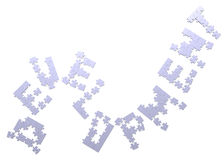 3d development text assembled of puzzles Royalty Free Stock Photos