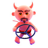 3d Devil driver Royalty Free Stock Image