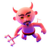 3d Devil flying forwards Royalty Free Stock Photos
