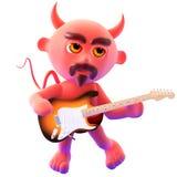 3d Devil guitarist Royalty Free Stock Image