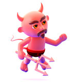 3d Devil looks to the right Royalty Free Stock Photo
