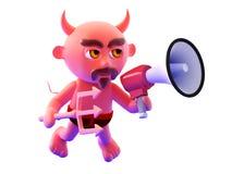 3d Devil megaphone Stock Photography