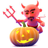 3d Devil pumpkin Royalty Free Stock Image