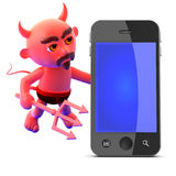 3d Devil smartphone Stock Photos