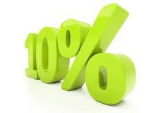 3D dez por cento isolados Fotografia de Stock Royalty Free