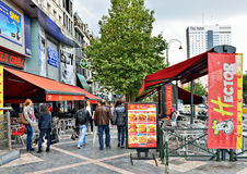 D'Or di Avenue de Toison a Bruxelles Fotografia Stock Libera da Diritti