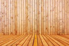 3d di legno svuotano l'interno della stanza Immagini Stock