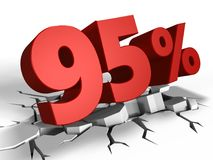 3d di 95 per cento del discoun royalty illustrazione gratis
