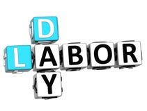 3D Dia do Trabalhador Job Crossword Imagens de Stock Royalty Free