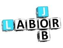 3D Dia do Trabalhador Job Crossword ilustração stock