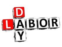 3D Dia do Trabalhador Job Crossword Imagens de Stock