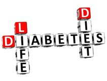 3D Diabetes Life Diet Crossword Stock Photo