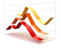 3d diagram (ścinek ścieżka zawierać) Zdjęcia Stock